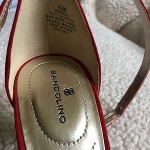 Bandolino Shoes - Bandolino Red Sandal Heel Pump, NIB, 8.5
